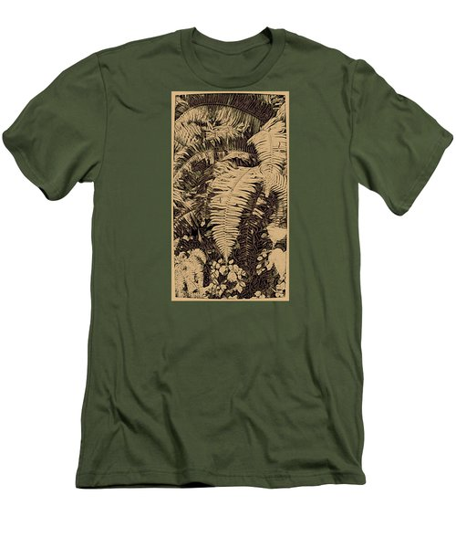 Fern Art No4 Men's T-Shirt (Athletic Fit)