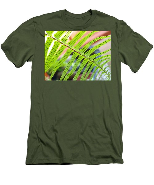 Men's T-Shirt (Slim Fit) featuring the photograph Fern by Trena Mara