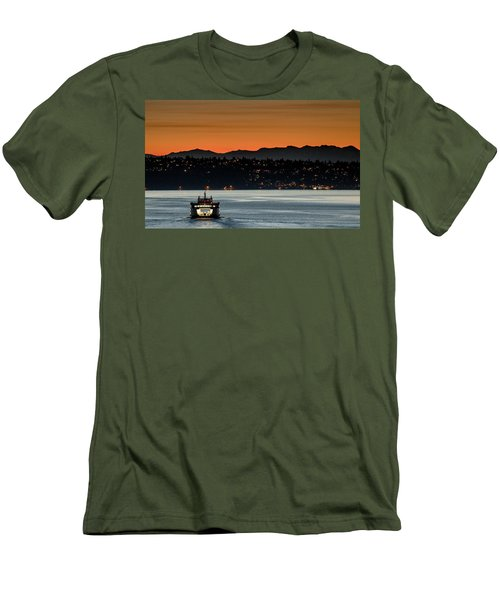 Ferry Sealth At Dawn Men's T-Shirt (Slim Fit) by E Faithe Lester