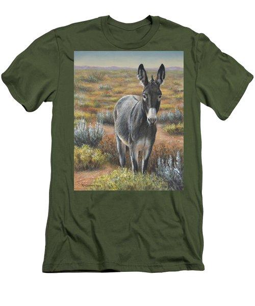 Men's T-Shirt (Slim Fit) featuring the painting Festus by Kim Lockman