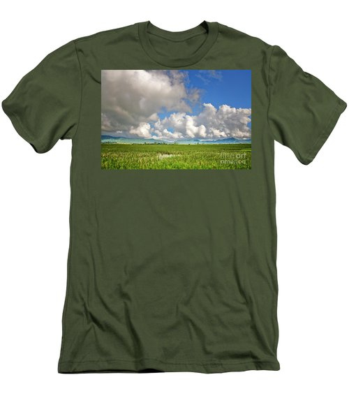 Men's T-Shirt (Slim Fit) featuring the photograph Field by Charuhas Images