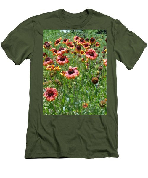 Field Of Flower Eyes Men's T-Shirt (Athletic Fit)