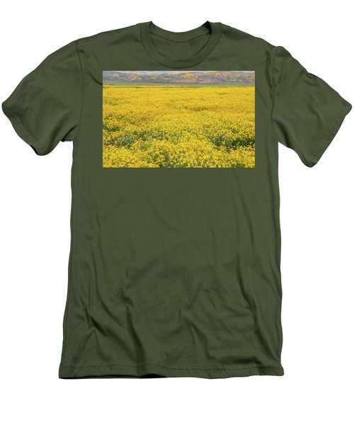 Men's T-Shirt (Slim Fit) featuring the photograph Field Of Goldfields by Marc Crumpler