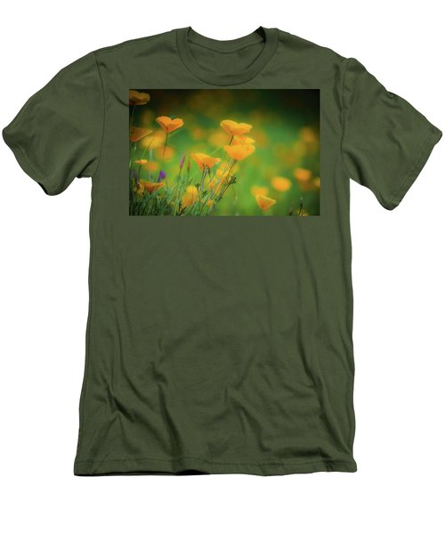 Field Of Poppies Men's T-Shirt (Athletic Fit)