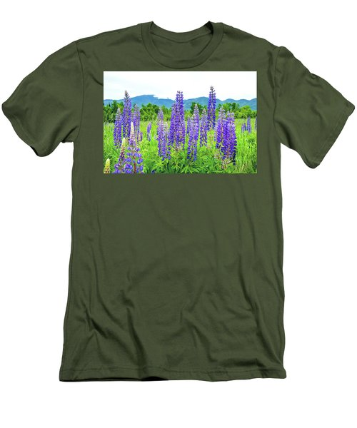 Field Of Purple Men's T-Shirt (Slim Fit) by Greg Fortier