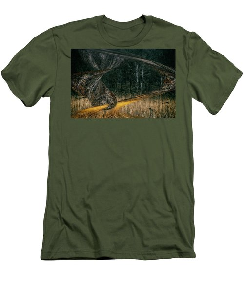 Field Warping Men's T-Shirt (Athletic Fit)