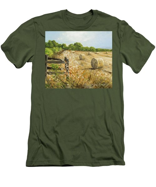 Fields Of Hay Men's T-Shirt (Slim Fit) by Marty Garland