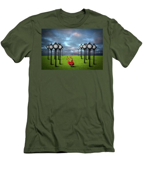 Men's T-Shirt (Slim Fit) featuring the digital art Fields Of Time by Nathan Wright