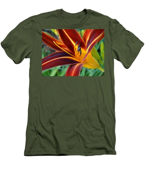 Fiery Lilies In Bloom Men's T-Shirt (Athletic Fit)