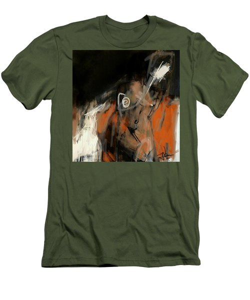 Men's T-Shirt (Athletic Fit) featuring the digital art Figure Abstract -  17sept2017 by Jim Vance