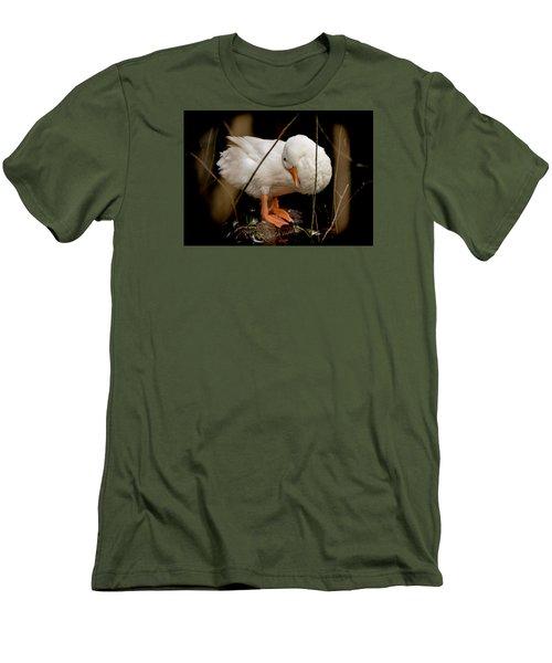Men's T-Shirt (Slim Fit) featuring the photograph Final Touches by E Faithe Lester