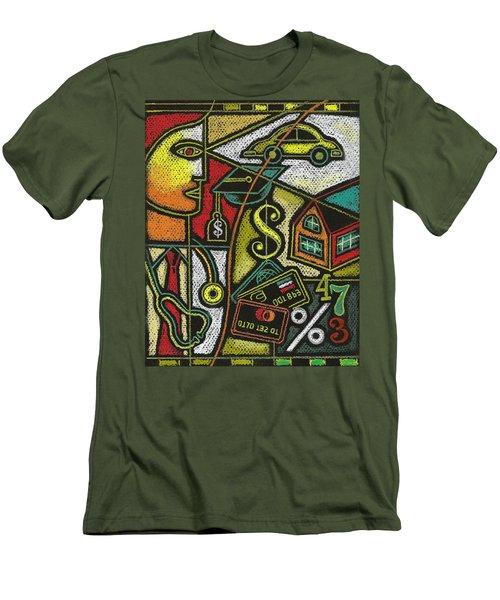 Finance And Medical Career Men's T-Shirt (Slim Fit) by Leon Zernitsky