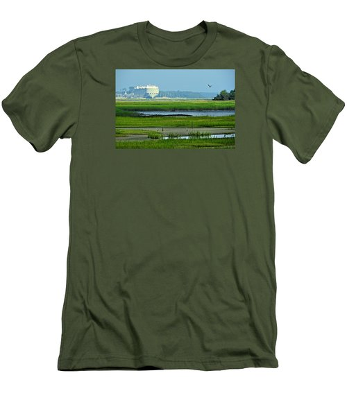 Men's T-Shirt (Slim Fit) featuring the photograph Finding Balance by Laura Ragland