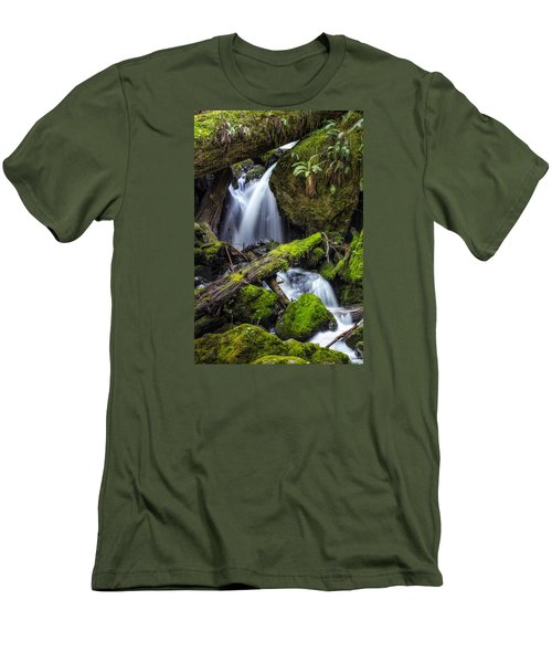 Finds A Way Men's T-Shirt (Slim Fit) by James Heckt