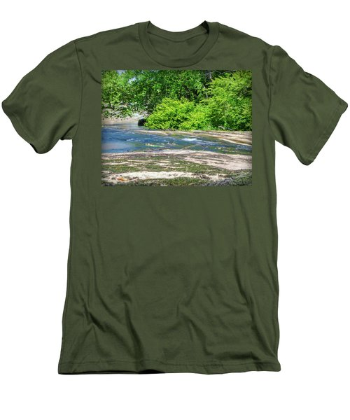 Fine Creek No. 3 Men's T-Shirt (Slim Fit) by Laura DAddona