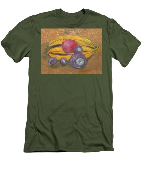 Fingerpainted Fruit Men's T-Shirt (Athletic Fit)