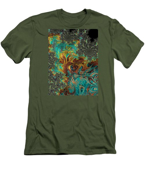 Men's T-Shirt (Slim Fit) featuring the photograph Fire And Ice by Ronda Broatch