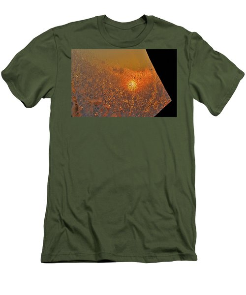 Men's T-Shirt (Slim Fit) featuring the photograph Fire And Ice by Susan Capuano