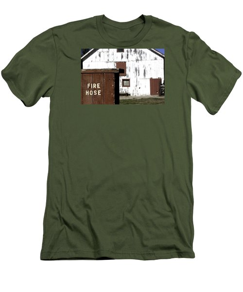 Fire Hose Men's T-Shirt (Slim Fit) by Lora Lee Chapman