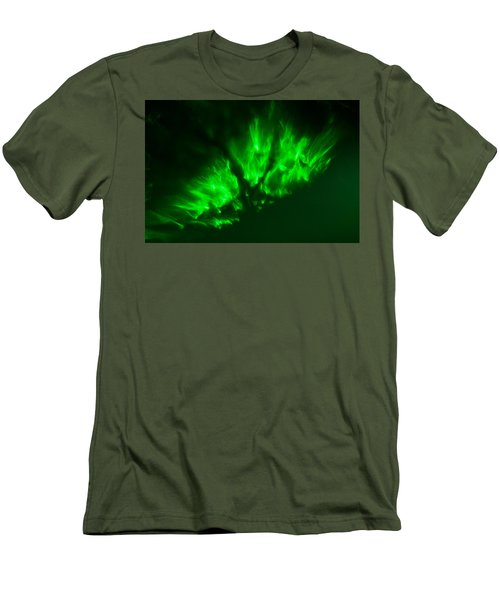 Men's T-Shirt (Athletic Fit) featuring the photograph Fire In The Sky by Greg Collins