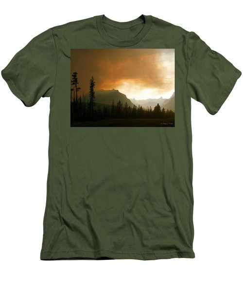 Fire Over St Mary Men's T-Shirt (Slim Fit)