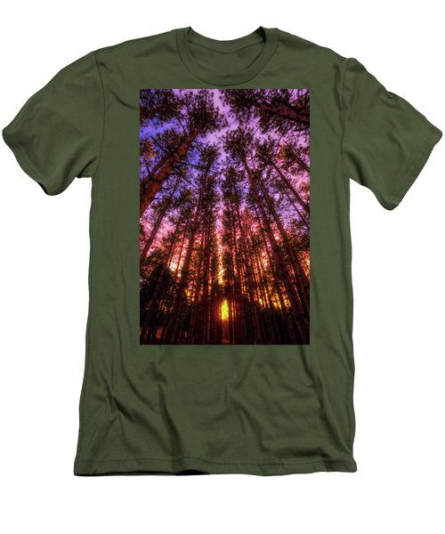 Men's T-Shirt (Slim Fit) featuring the photograph Fire Sky - Sunset At Retzer Nature Center - Waukesha Wisconsin by Jennifer Rondinelli Reilly - Fine Art Photography