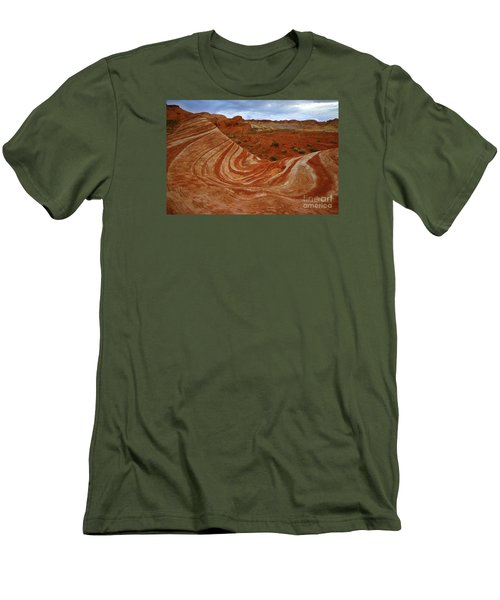 Fire Wave  Men's T-Shirt (Athletic Fit)