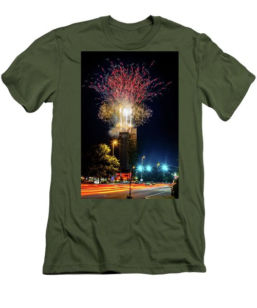 Fire Works In Fort Wayne Men's T-Shirt (Athletic Fit)