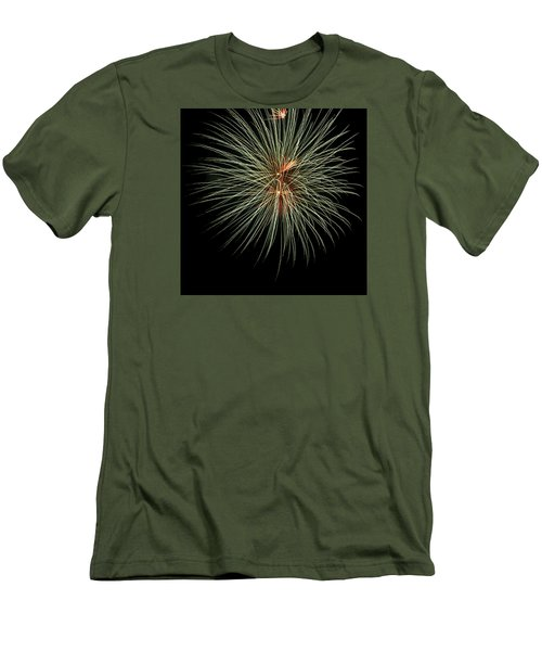Fireworks 3 Men's T-Shirt (Slim Fit) by Ellery Russell