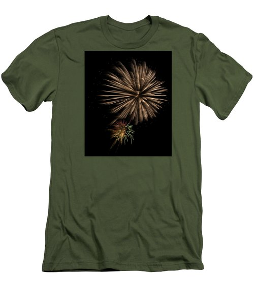 Fireworks 4 Men's T-Shirt (Slim Fit) by Ellery Russell