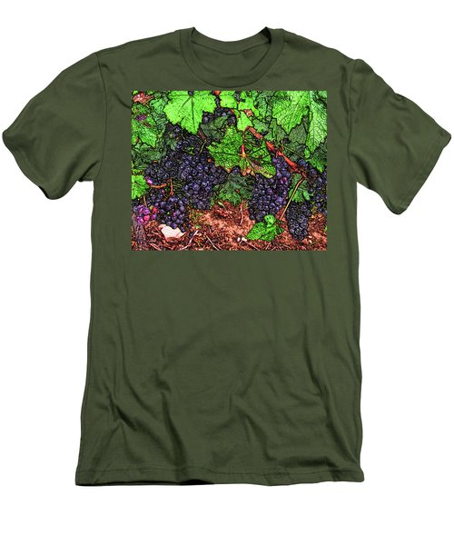 First Came The Grape Men's T-Shirt (Athletic Fit)