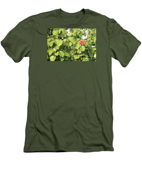 First Fall Leaf Men's T-Shirt (Athletic Fit)