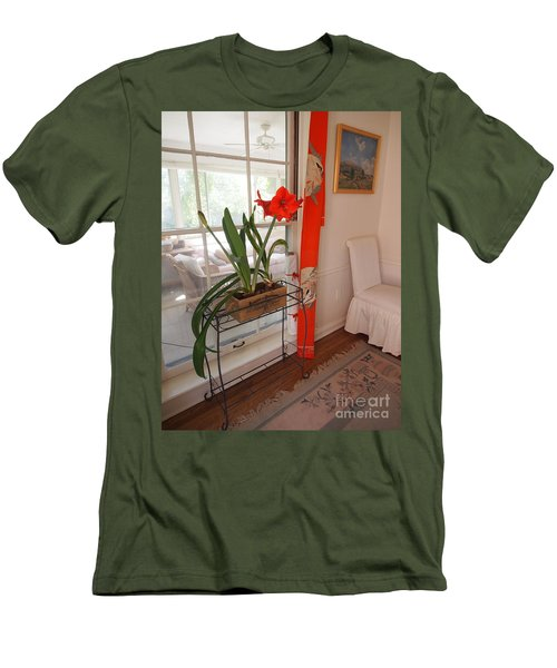 First There Was Red Men's T-Shirt (Slim Fit) by Nancy Kane Chapman