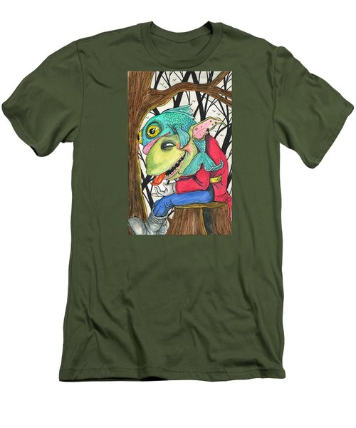 Fish Face Men's T-Shirt (Athletic Fit)