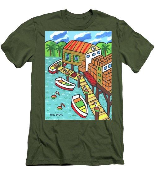 Fish House-cedar Key Men's T-Shirt (Athletic Fit)