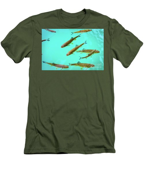 Fish School In Turquoise Lake - Plitvice Lakes National Park, Croatia Men's T-Shirt (Athletic Fit)