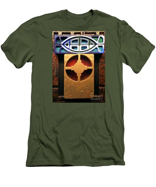 Men's T-Shirt (Athletic Fit) featuring the painting The Fisherman by James Lanigan Thompson MFA
