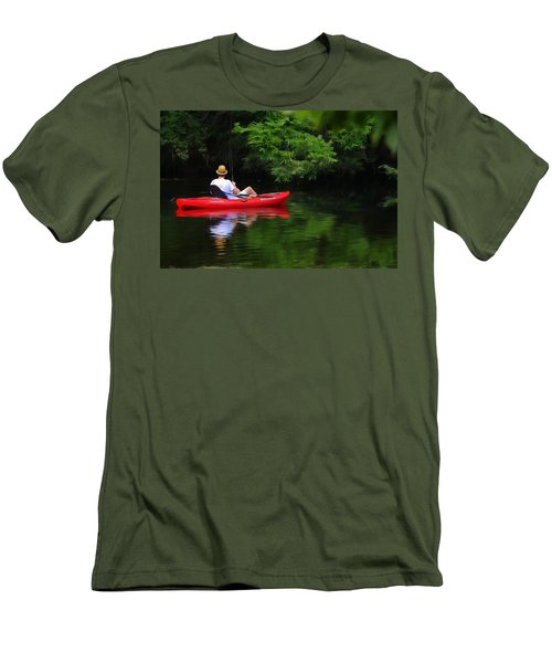 Fisherman On Lady Bird Lake - Digitalart Men's T-Shirt (Athletic Fit)
