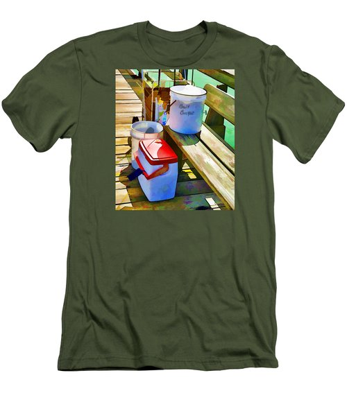 Fisherman's Buckets Men's T-Shirt (Slim Fit) by Rena Trepanier