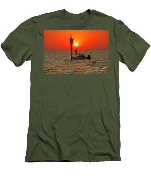 Fishing In Lacombe Louisiana Men's T-Shirt (Slim Fit) by Luana K Perez