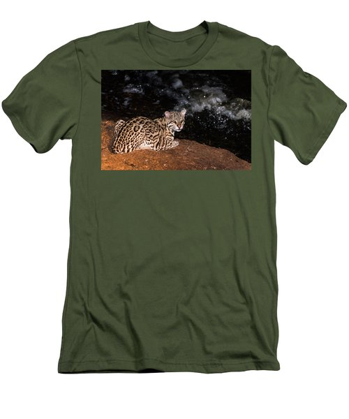 Fishing In The Stream Men's T-Shirt (Slim Fit) by Alex Lapidus