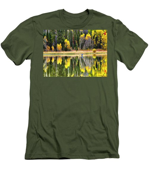 Fishing On Dream Lake Colorado Men's T-Shirt (Athletic Fit)