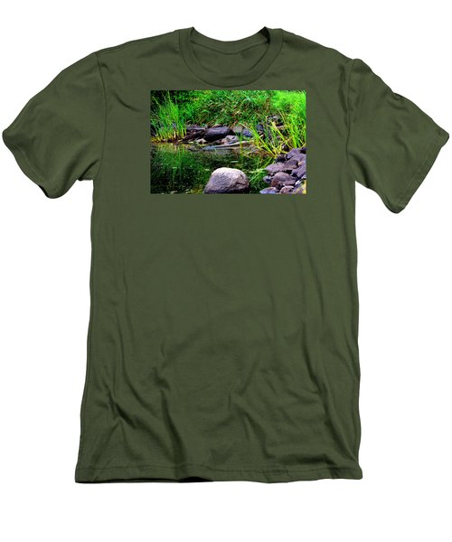 Fishing Pond Men's T-Shirt (Athletic Fit)