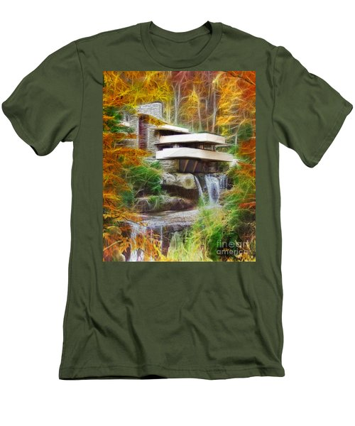 Fixer Upper - Frank Lloyd Wright's Fallingwater Men's T-Shirt (Athletic Fit)