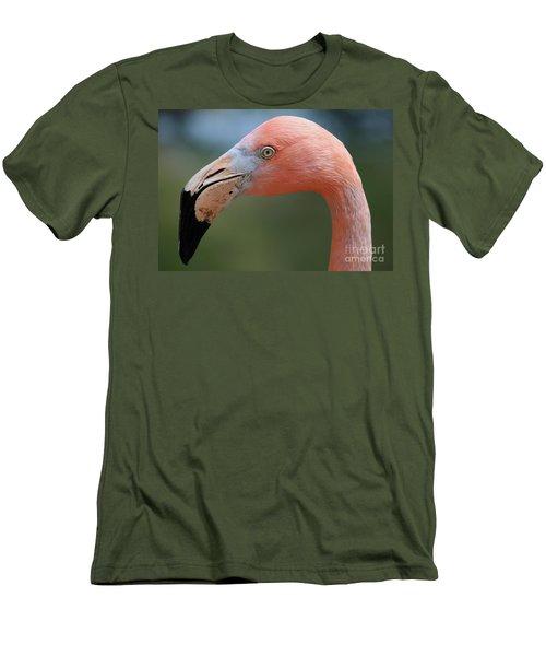 Flamingo Protrait Men's T-Shirt (Slim Fit) by Marty Fancy