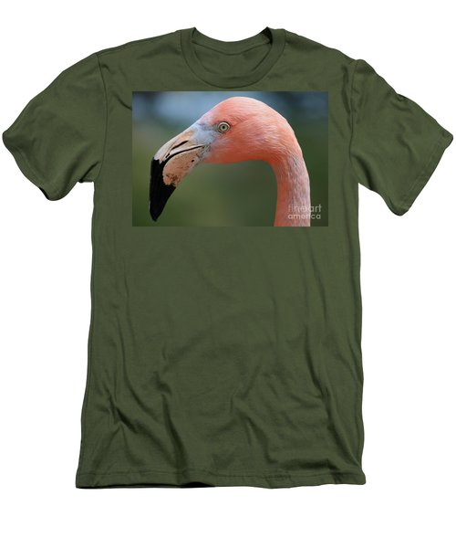 Flamingo Protrait Men's T-Shirt (Slim Fit)