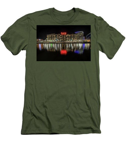 Men's T-Shirt (Slim Fit) featuring the photograph Flats East Bank by Brent Durken