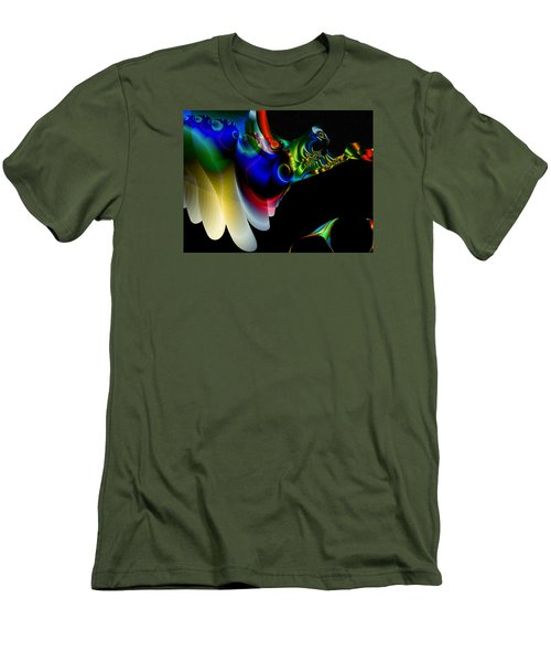 Men's T-Shirt (Slim Fit) featuring the digital art Flight Of The Phoenix by Mario Carini