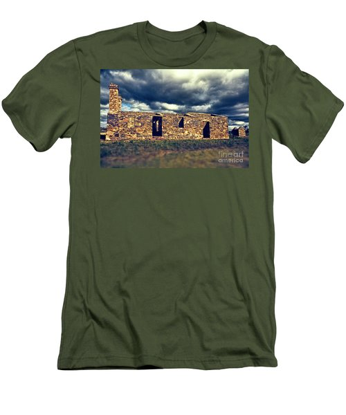 Flinders Ranges Ruins V2 Men's T-Shirt (Slim Fit) by Douglas Barnard