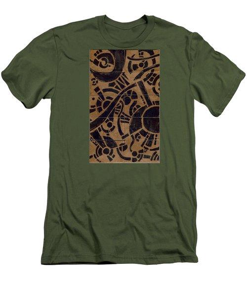 Flipside 1 Panel B Men's T-Shirt (Slim Fit) by Joseph A Langley